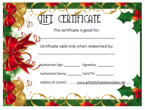 Christmas gift certificate template beautiful printable gift christmas gift certificate template yelopaper Gallery