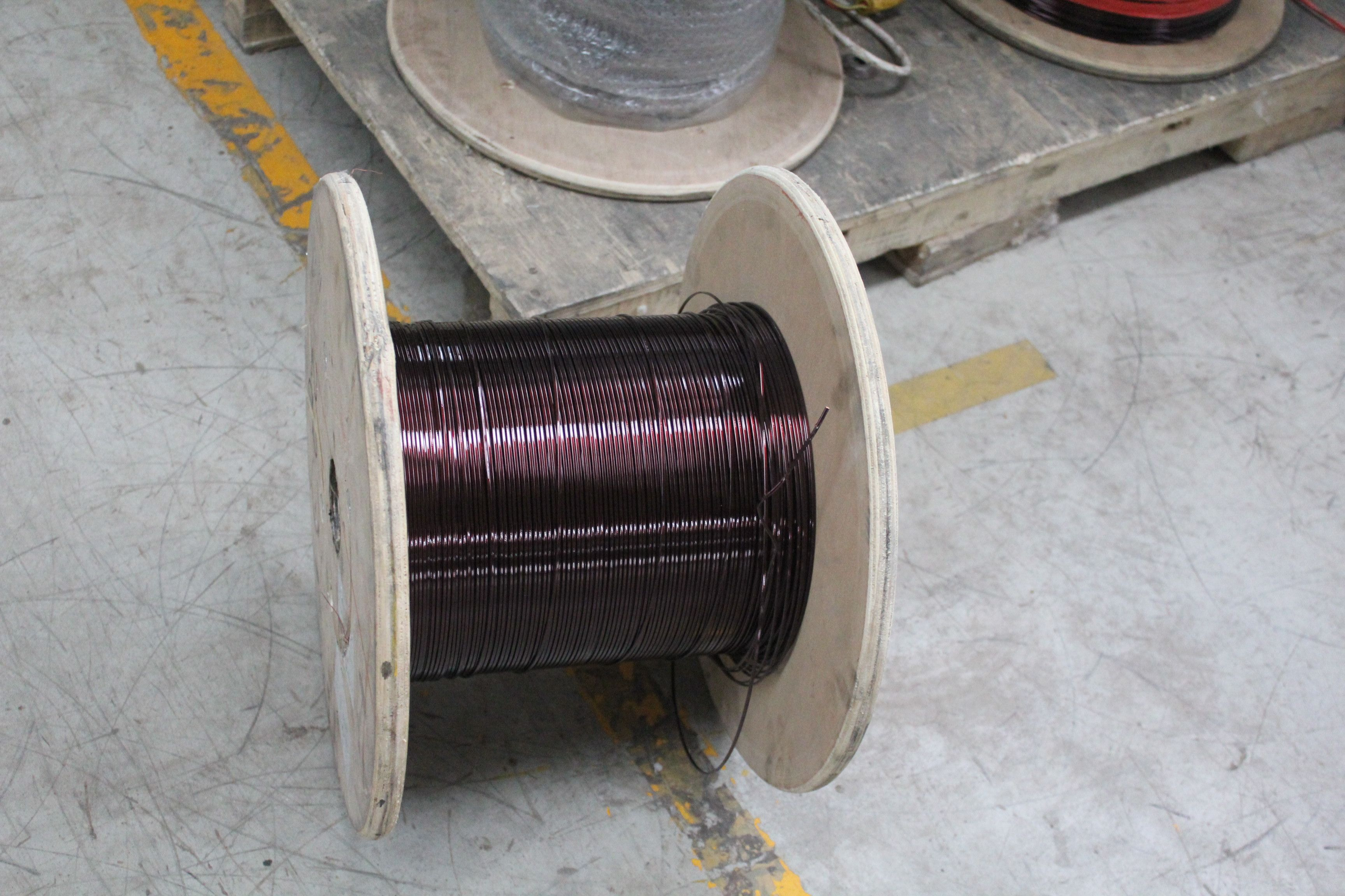 hight resolution of enameled aluminum wire s flame retardant level is b so it has good better shielding effectiveness and high mechanical property