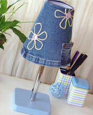 Creaclic.ch - Fiche créative Abat-jour en jean et crochet