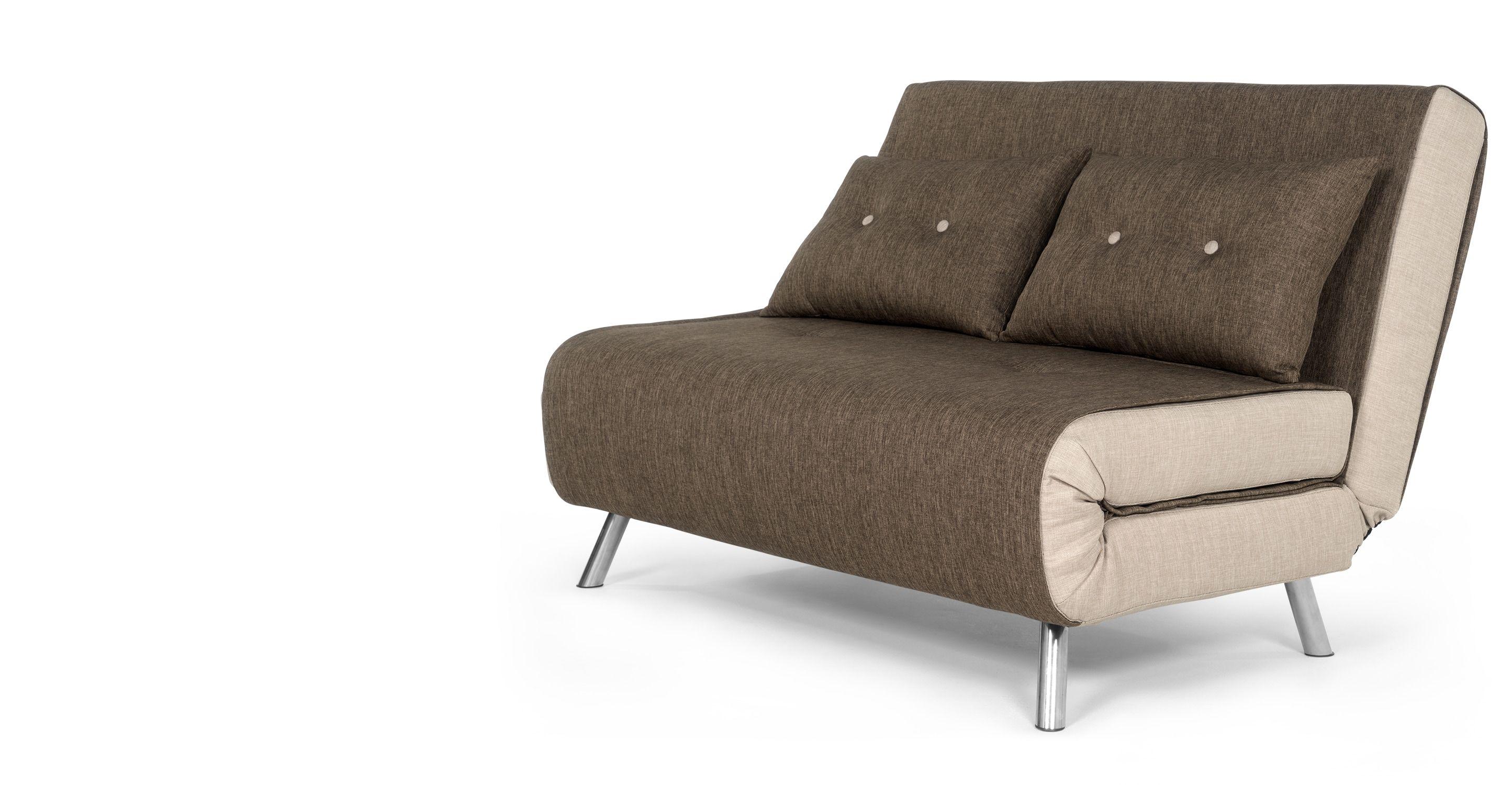 Slaapbank Design Outlet.Haru Kleine Slaapbank Bosbruin Petit Canape Convertible Petit