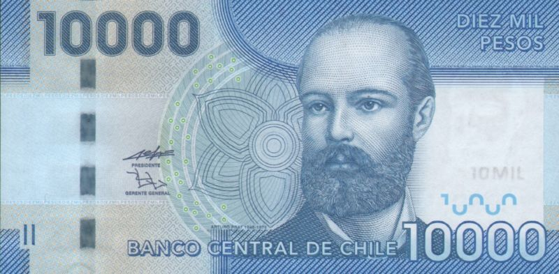 Collecters Item Chile 2011 Banknote 10 000 Pesos Dh2878651 Bank Notes Chilean Us Dollars