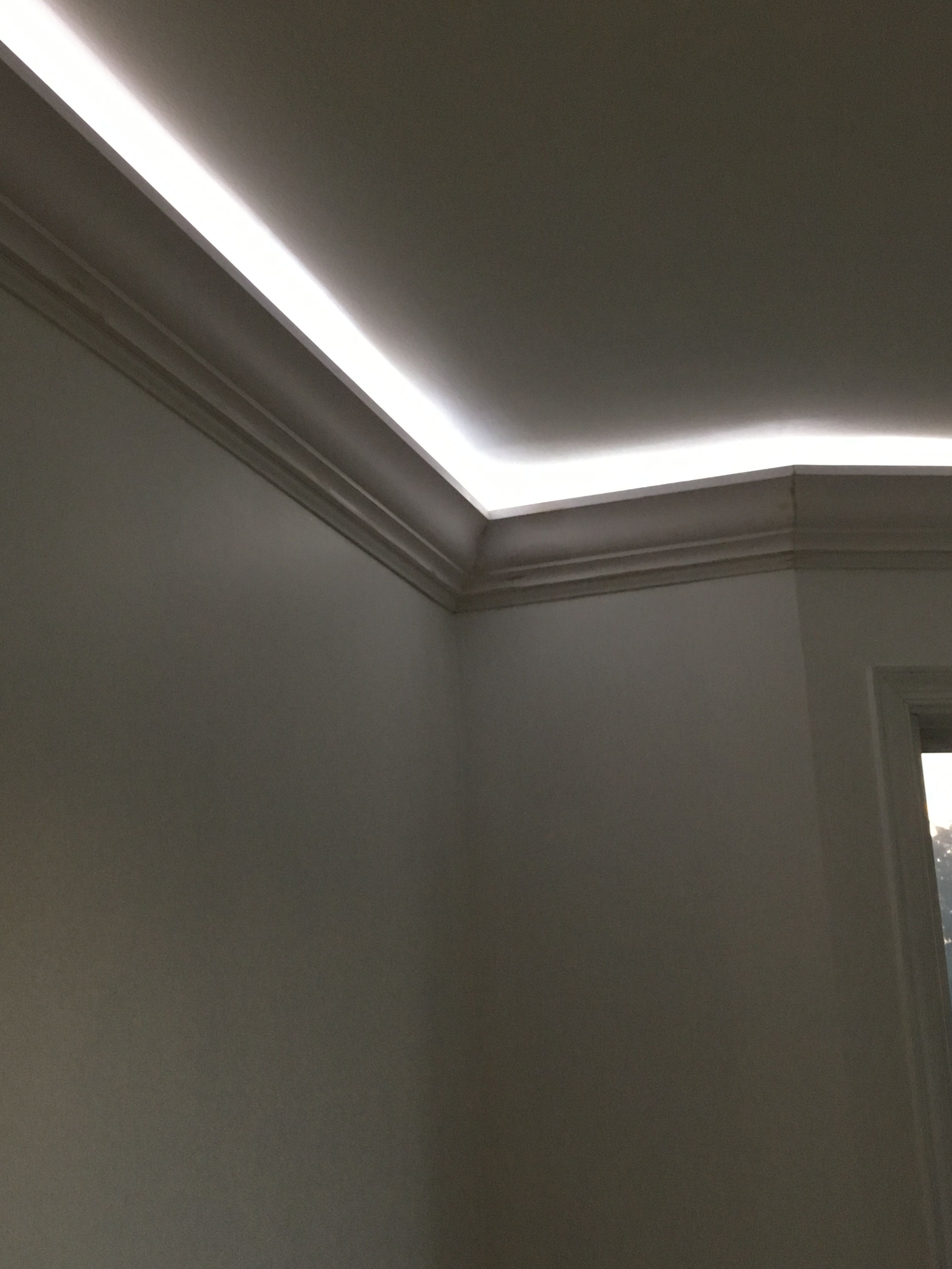 Rope Lighting Behind 5 Crown Molding Bedroom Ceiling
