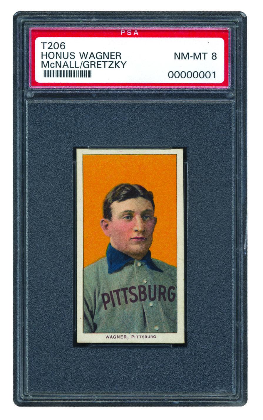 19091911 t206 white border honus wagner psa 8 baseball