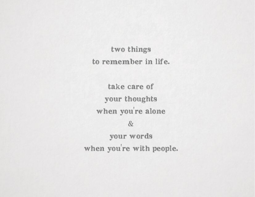 Two Things To Remember.