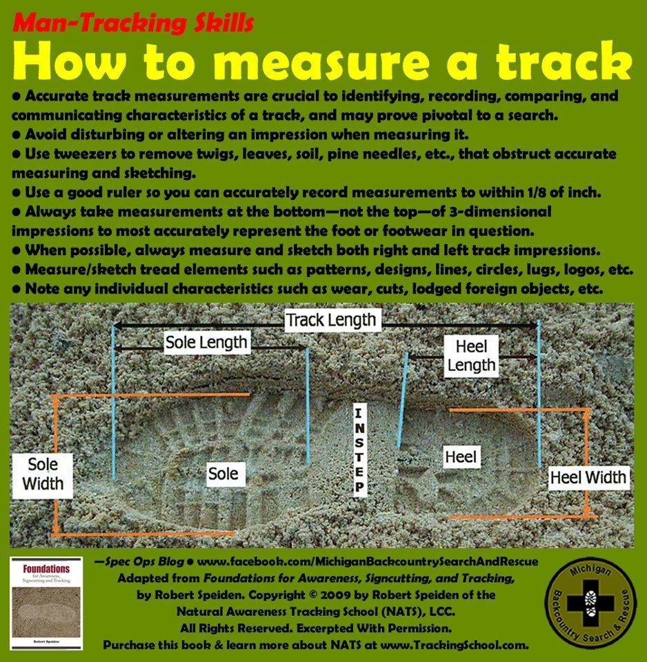 How To Measure A Track Survival Survival Techniques Prepper Survival