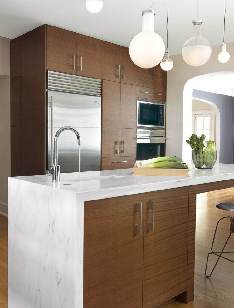 Nice Contemporary kitchen in a traditional masonry home Be inspired by KMO Renovation a Sub Zero u Wolf Contemporary Kitchen Design Contest Winner