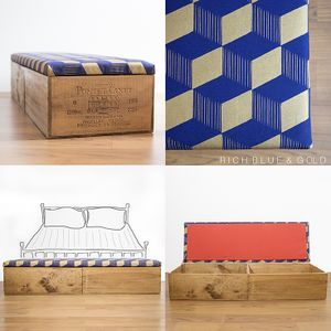 Double length wine crate ottoman • Made Anew • Tictail