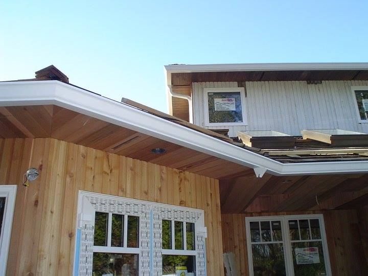Wood Soffits Gutters Painting Gutters Gutter Accessories