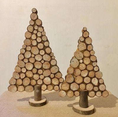 Sapin De Noël Rondelles Bois Déco