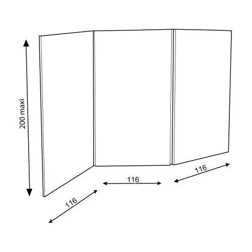 Paravent 3 panneaux en carton carton Pinterest
