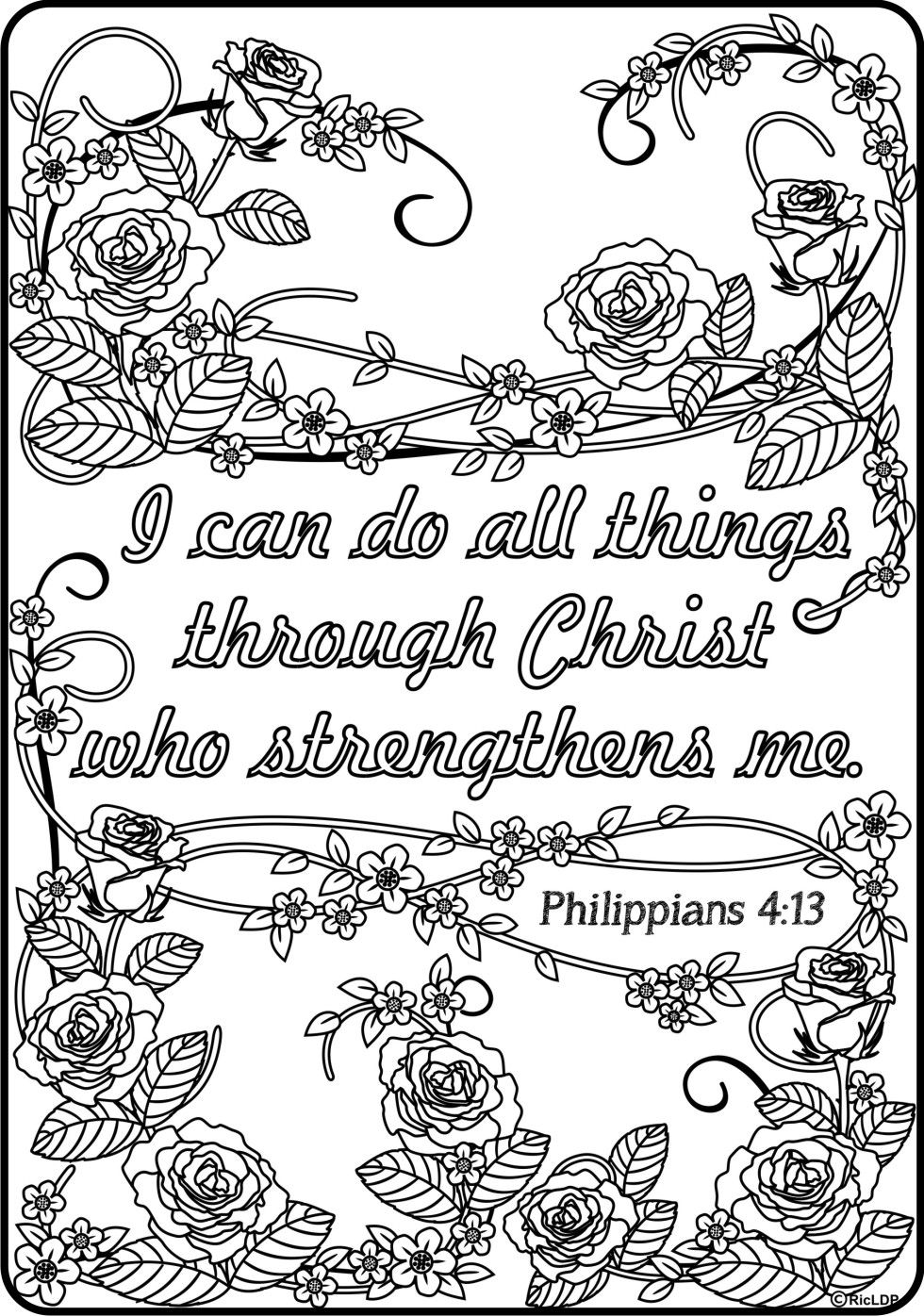 15 Printable Bible Verse Coloring Pages | Bible, Adult ...