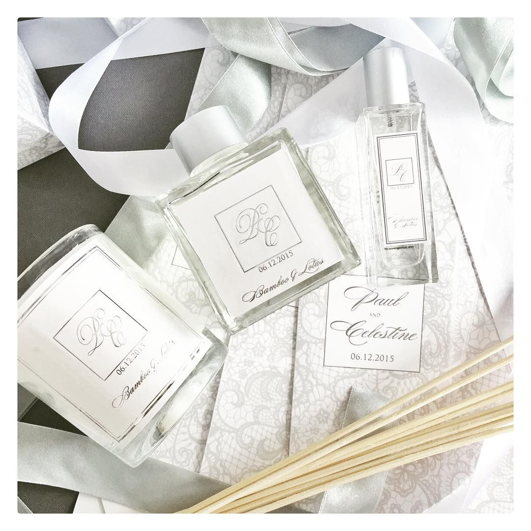 Personalized Home Fragrance Gift Set Favors for Philippine Celebrity ...
