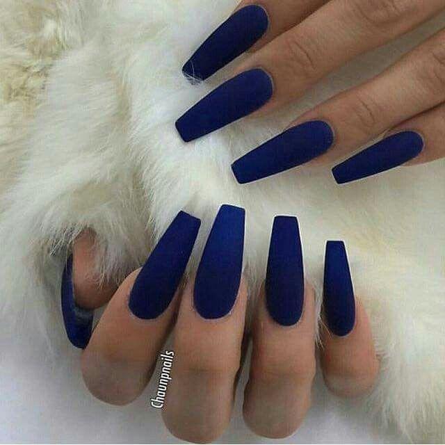 Uñas De Acrílico Color Azul Uñas De Gel Manicura De Uñas