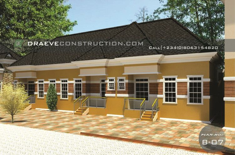 3 Units Of 1 Bedroom Apartments Building Plan 1 Bedroom Apartment Bungalow House Plans Apartment Building