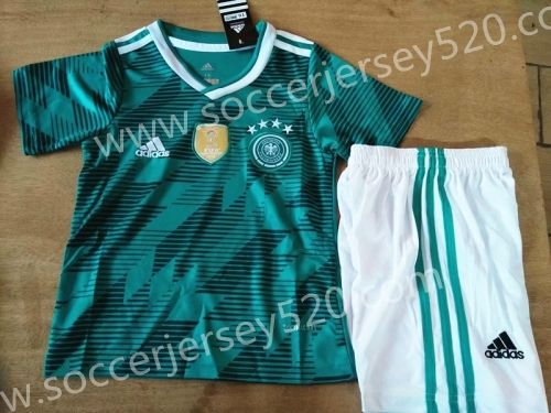 baf5c5c0bdc8 2018 World Cup Germany Away Green Kid  Youth Soccer Uniform