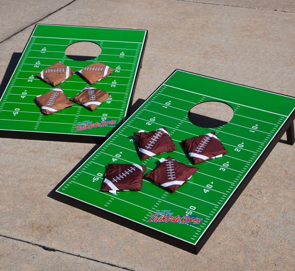 Football Field Bean Bag Toss Set Boards Tailgate Regulation Baggo Wildsports