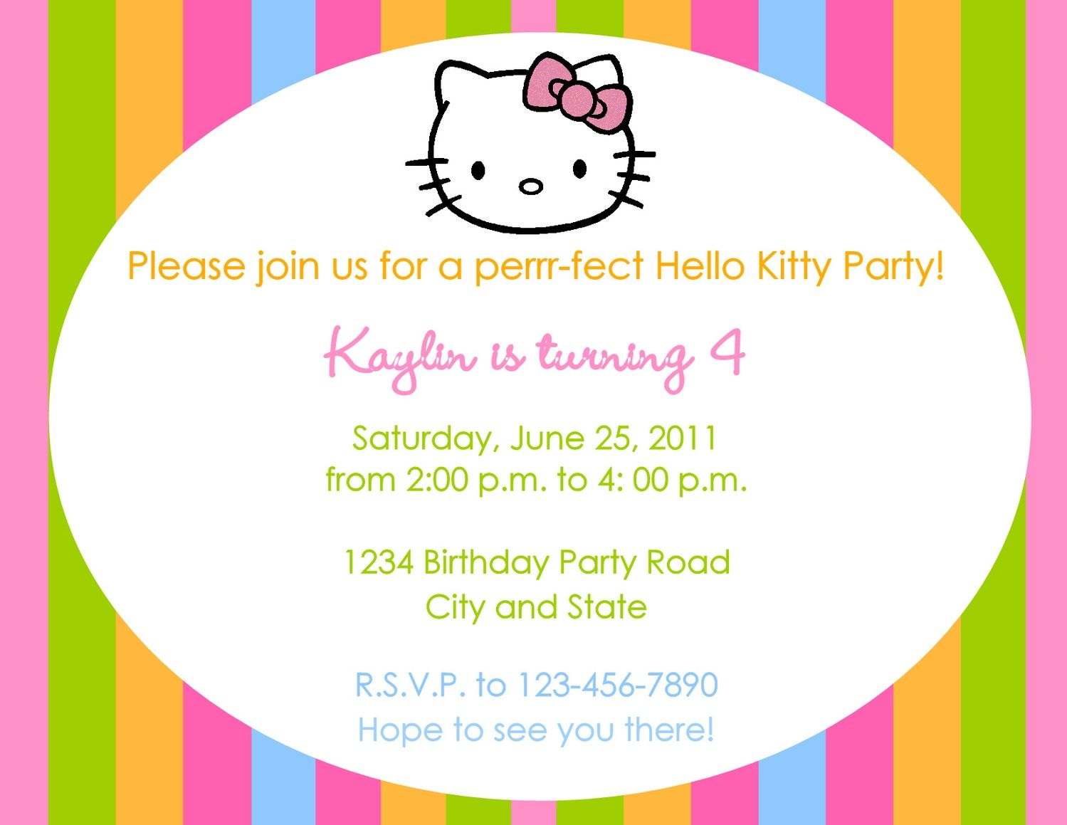Hello kitty party invitations free template party pinterest hello kitty party invitations free template filmwisefo Choice Image