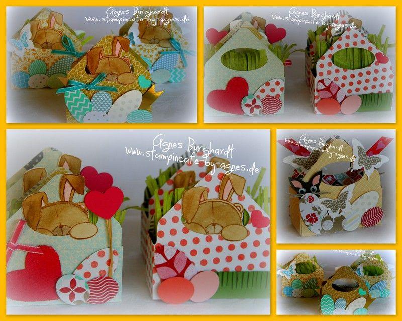 Easter - Envelope Punch Board - EPB - Bunny Baskets - Ostern - Hasen - Körbchen