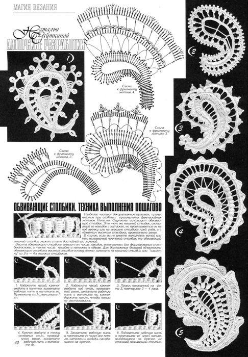 Схемы Ирландского кружева ( турецкие огурцы )