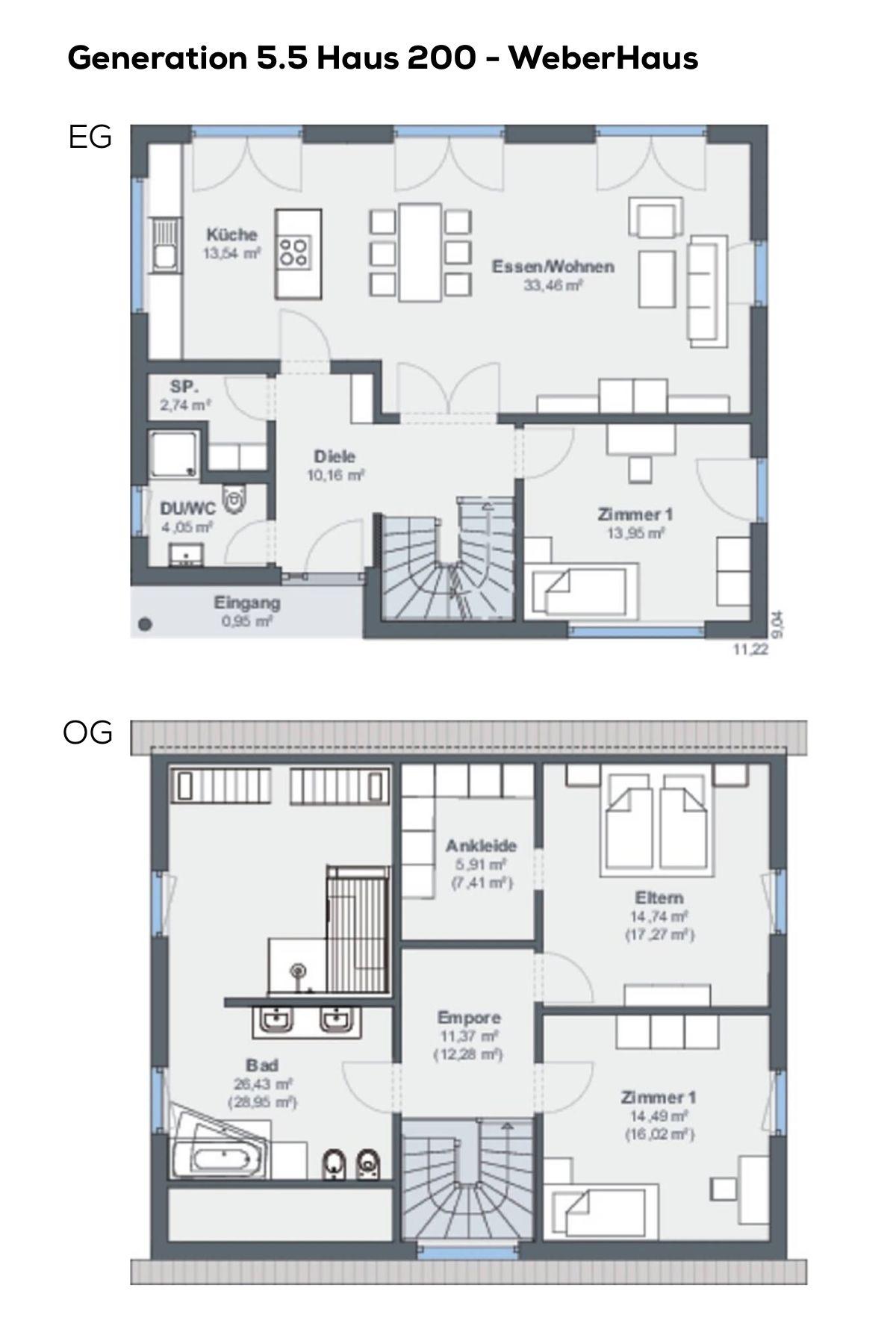 Grundriss Einfamilienhaus Mit Pultdach   4 Zimmer, Erdgeschoss Modern,  Küche Offen, Treppe Gewendelt