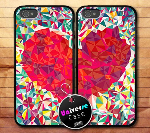 Best Red Heart Puzzle Art Iphone 5 Case Couple Hard Plastic 400 x 300