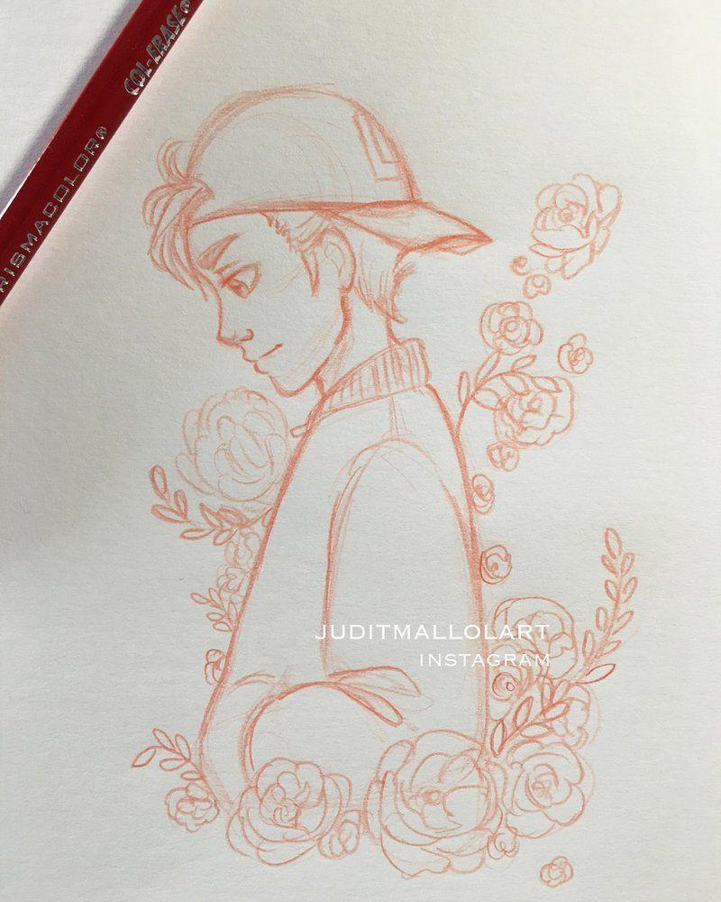 Flower boy by juditmallolart deviantart com on deviantart