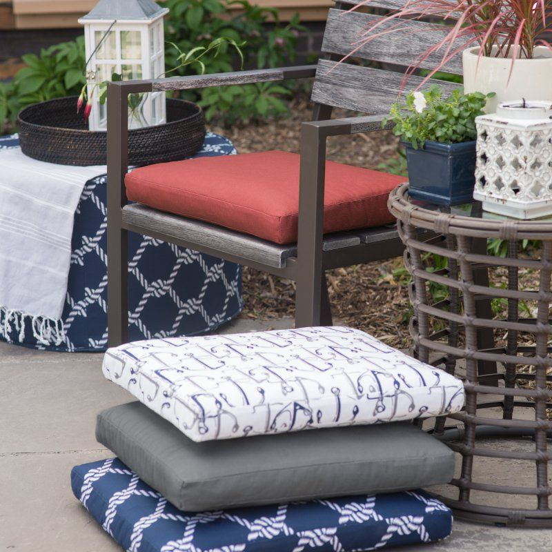 Coral Coast Nautical 19 X 19 In Outdoor Seat Pad Products