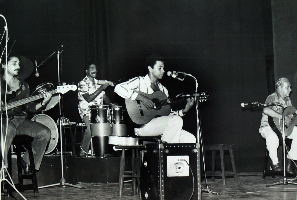 Paulinho da Viola e Canhoto da Paraiba, no Pixinguinha de 1978