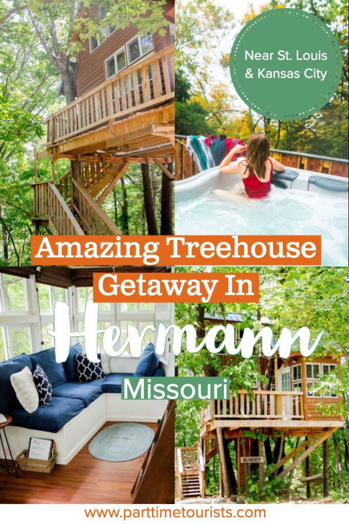 Hermann Missouri is a great midwest getaway vacation. Some things to do in Hermann include staying in a tree house, eating lots of german food and treats, and enjoying the wine trail. This is a great Missouri weekend vacation or a great stop along a road trip to St. Louis or Kansas City! #midwestgetaway #missouri #hermann