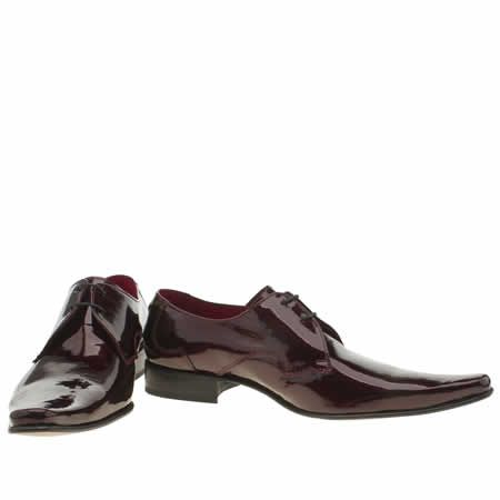 mens jeffery west burgundy pino plain vamp shoes