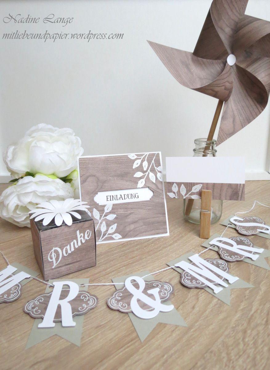Stampin Up! Holzdekor Blütentraum Hochzeit Selbermachen Einladung Deko  Gastgeschenk Girlande Tisch