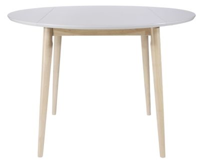 Mobilier Salons Et Sejours Tables Table Ronde A Volets Malena Scandinave Blanc Table A Manger Pas Cher Table Ronde Cuisine Table De Salon Ronde