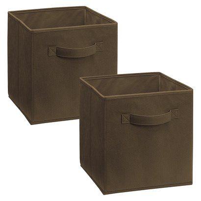 ClosetMaid 2-Pack Fabric Drawers - Brown
