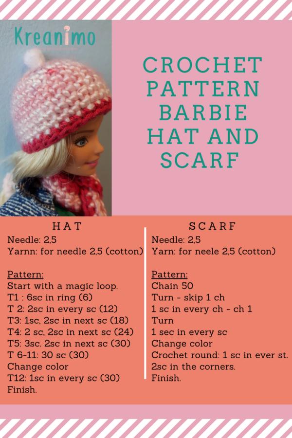 Barbie hat - crochet in round. - Kreanimo