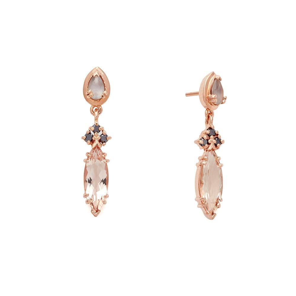 9155301644eeba Eleonore Marquise Stud Earrings in Rose Gold – Anna Sheffield Jewelry