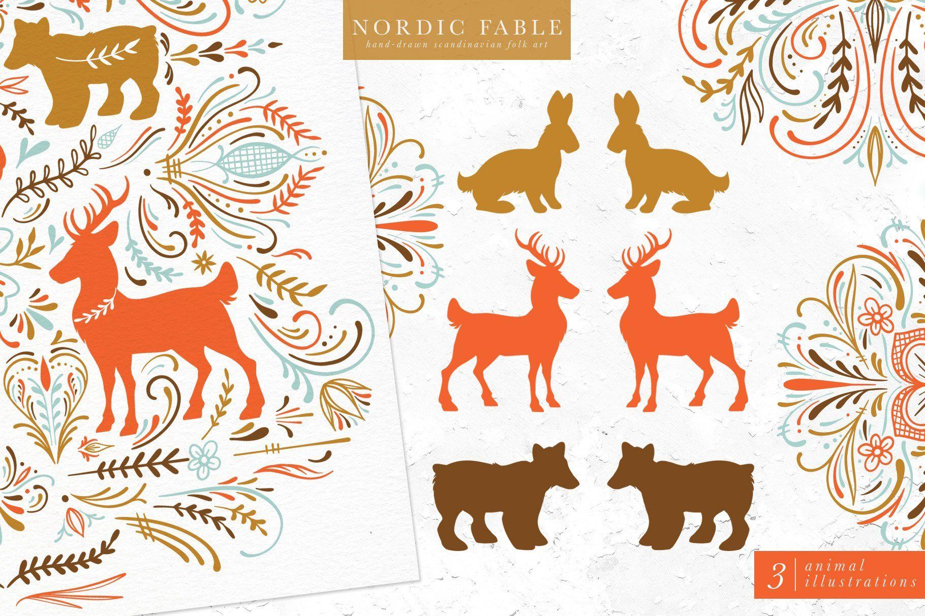 Nordic Fable Scandinavian Folk Art Scandinavian Folk Art Folk Art Art