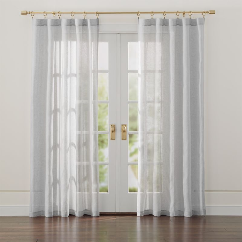 Linen Light Grey Sheer Curtains Crate And Barrel Gray Sheer Curtains White Sheer Curtains Grey Curtains