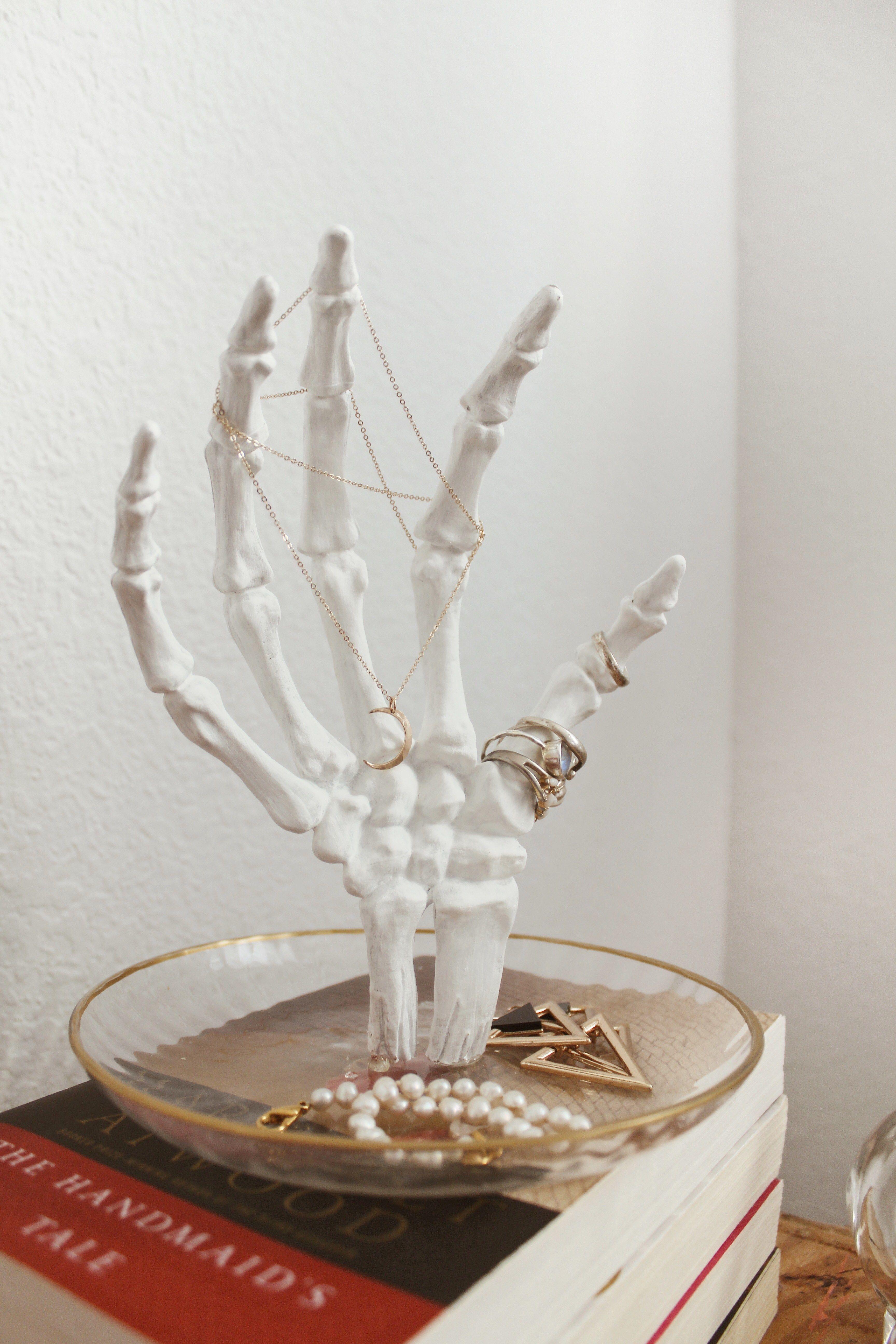 DIY Skeleton Hand Jewelry Holder InfluenceHer Collective