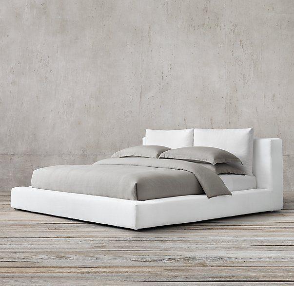 Cloud Platform Slipcovered Bed Upholstered Slipcovers