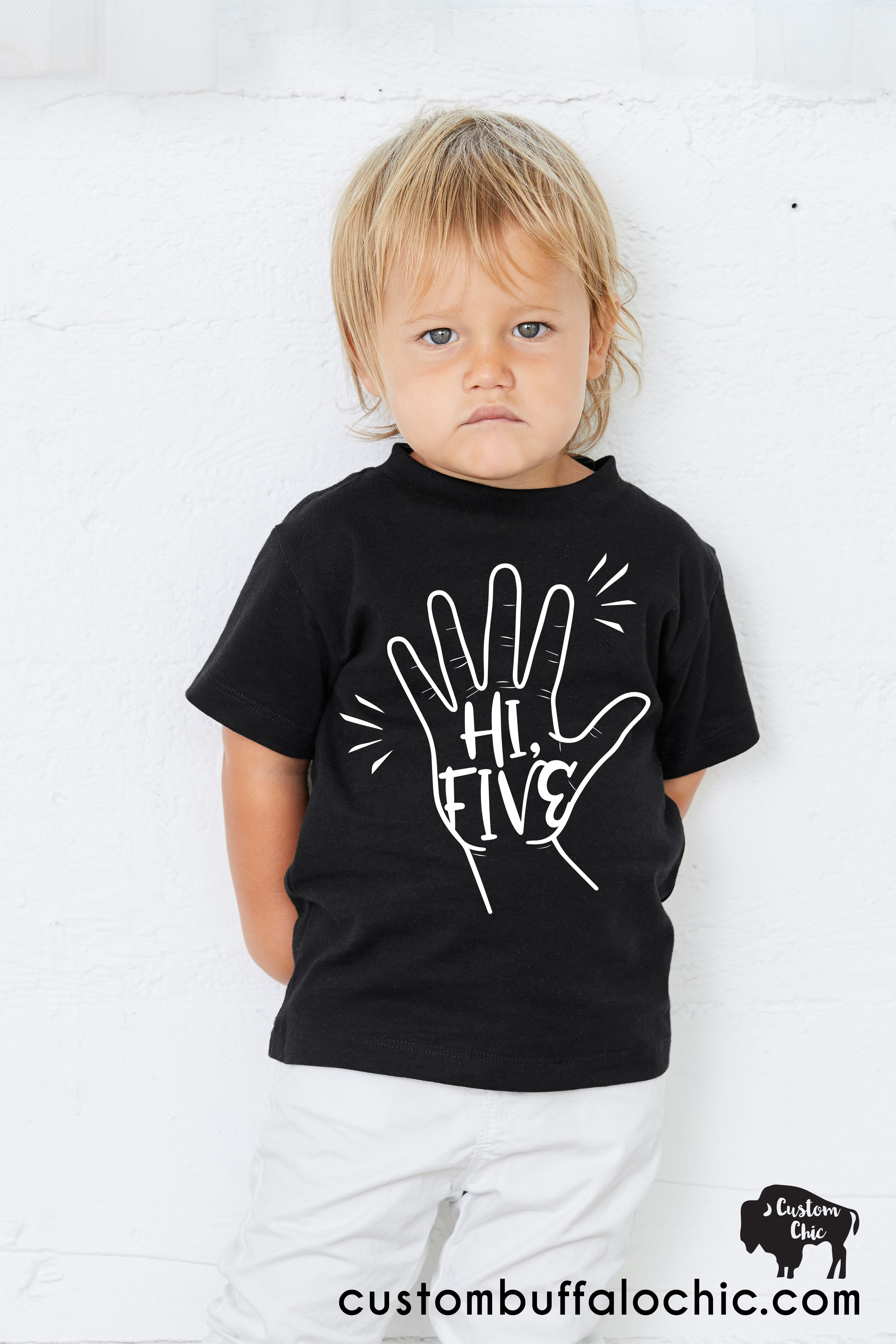 83aee561 Hi Five Birthday Shirt! Look no further than the Hi Five theme for a 5th  birthday ideas for boys. This is a super trendy fun theme perfect for a 5  year old!