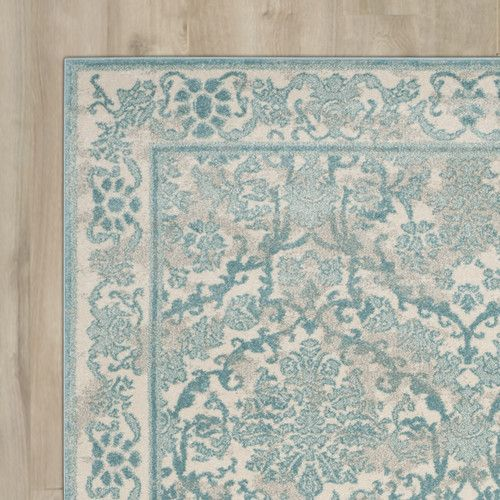 Found It At Joss Main Hayley Ivory Light Blue Area Rug