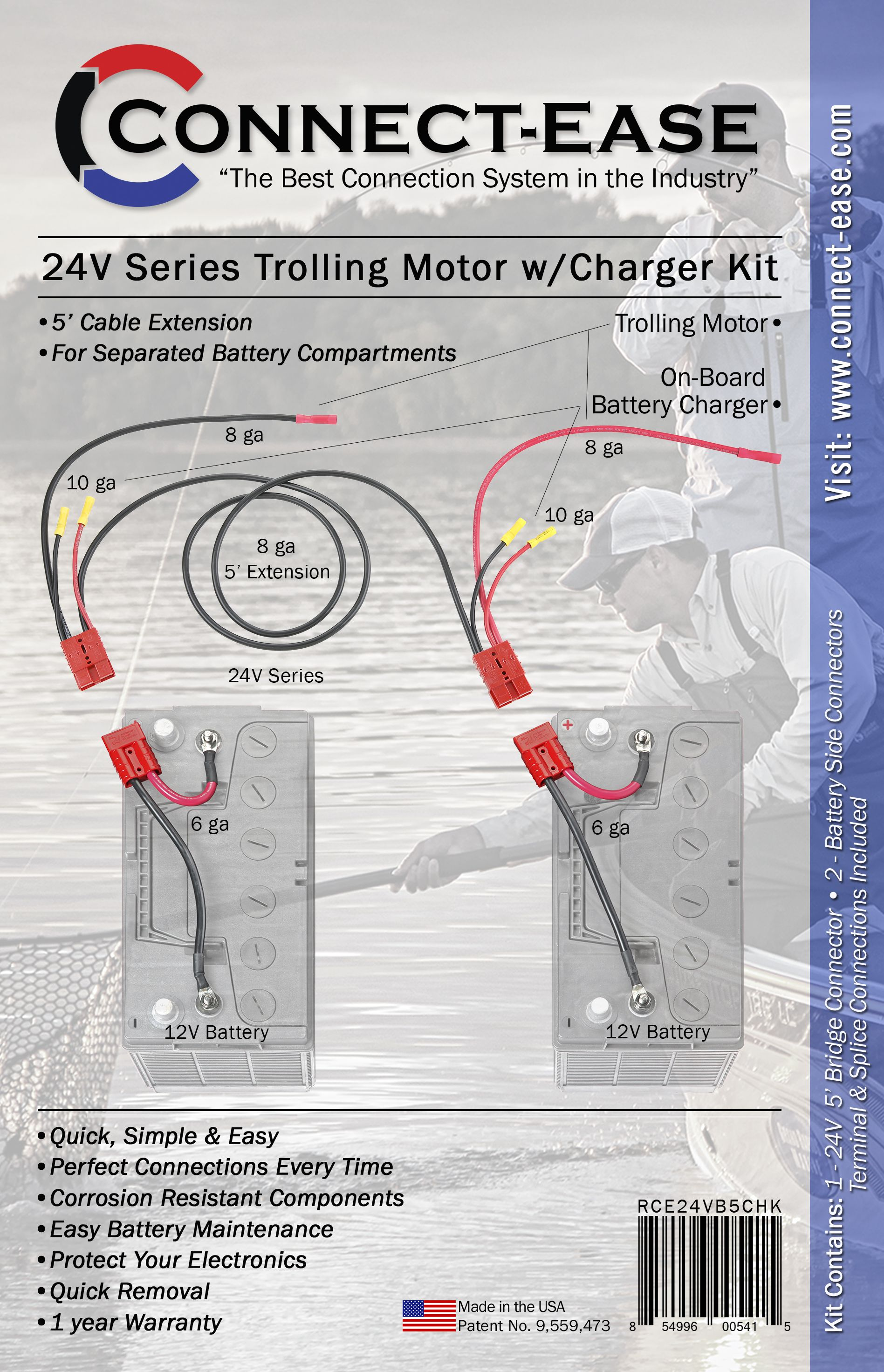 The Perfect Solution For Boats With Separated Batteries Under The Consoles Or In The Rear Deck Trolling Motor Boat Wiring Aluminum Fishing Boats