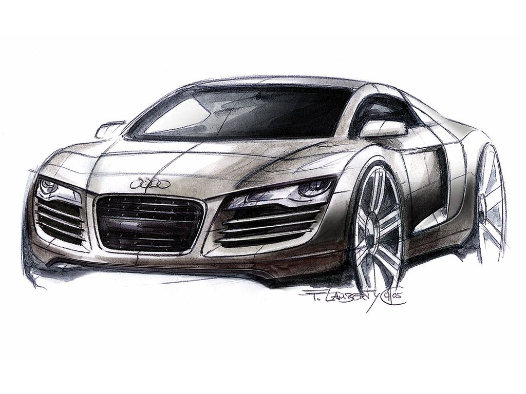 Ausmalbilder Autos Audi R8 : Audi R8 Design Sketch Concepts 2 Pinterest Sketches Cars And