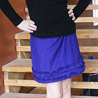 How to Add Ruffles to a T-shirt Skirt