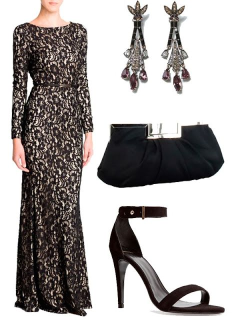 Vestidos de encaje negro para bodas