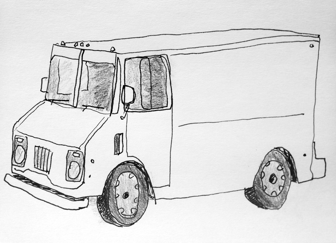 Famous Truck Sketch Drawing Contemporary - Electrical Circuit ...