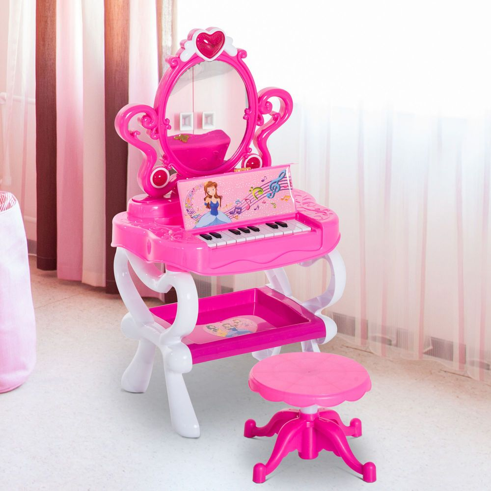 Details About Kids Pretend Princess Girls Vanity Dressing Table Beauty Play Set W Piano 인테리어