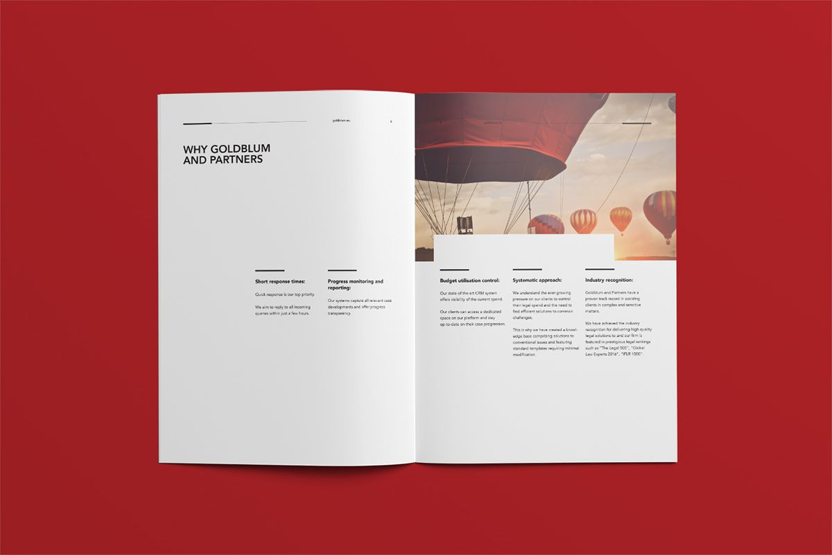 Goldblum Company Profile on Behance | Brochure template