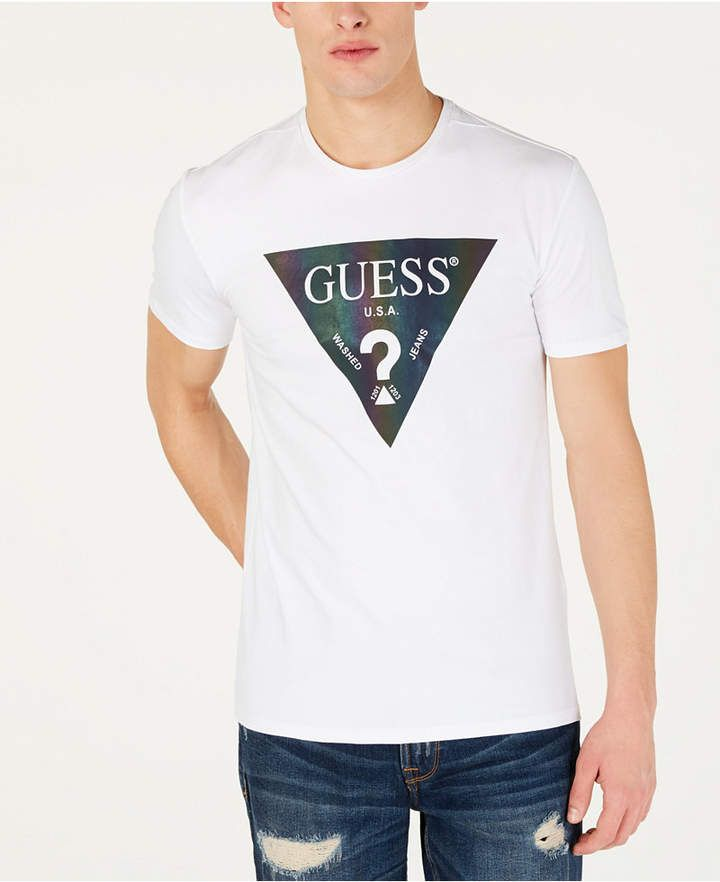 dd01fffae GUESS Men Color Shades Logo T-Shirt in 2019 | Products | Shirts ...