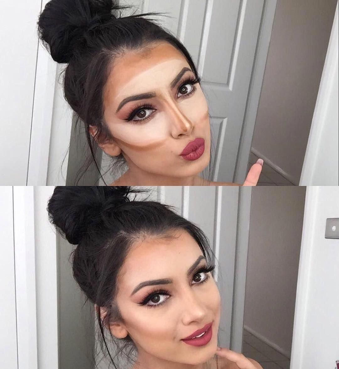 """""""Before & After, from Crazy to Cute """" Contour makeup"""